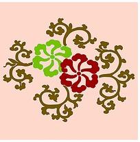 矢量花朵花纹底纹素材