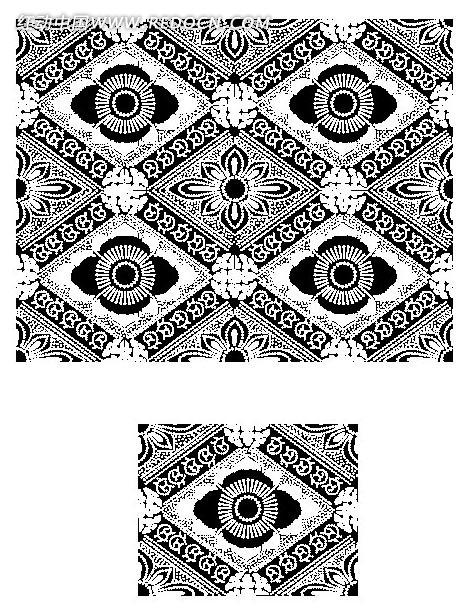 黑白方格花纹