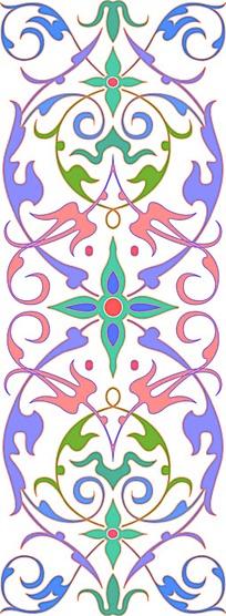 彩色花边圆形底纹图案