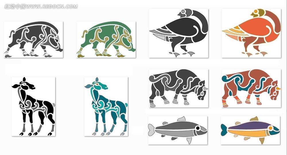 动物花纹设计图片