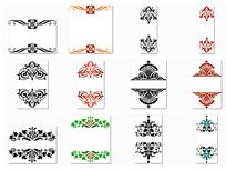 欧式边角花纹设计