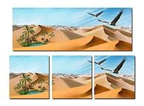沙漠绿洲无框画psd