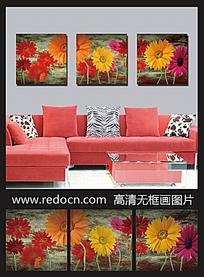 雏菊摄影图装饰画