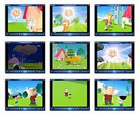 卡通动物动画视频