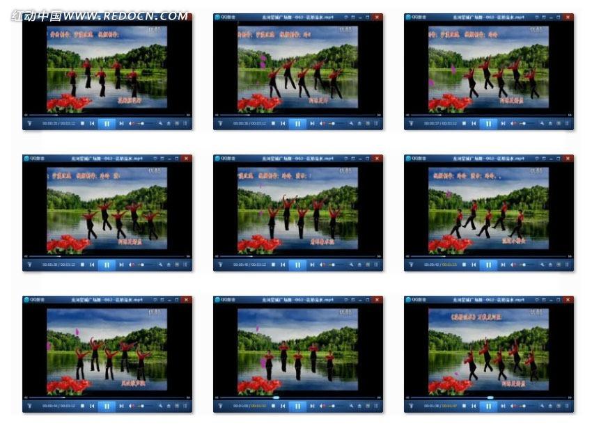 龙河星城广场舞花桥流水mp4素材免费下载 编号3180973 红动网