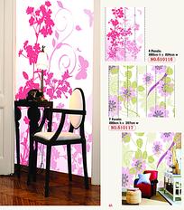 唯美花纹墙绘设计