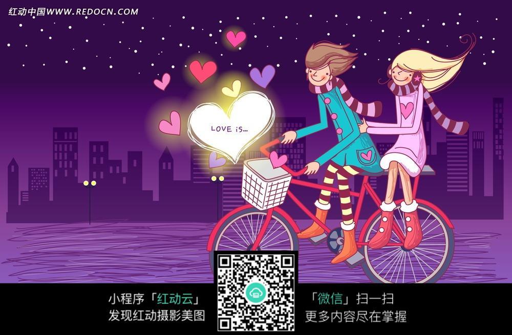 星星月亮情侣图片