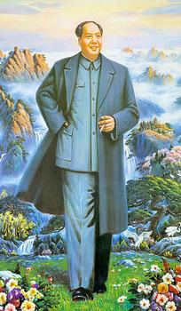站立拿着烟卷的毛泽东