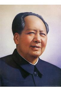 毛泽东晚年人物画像