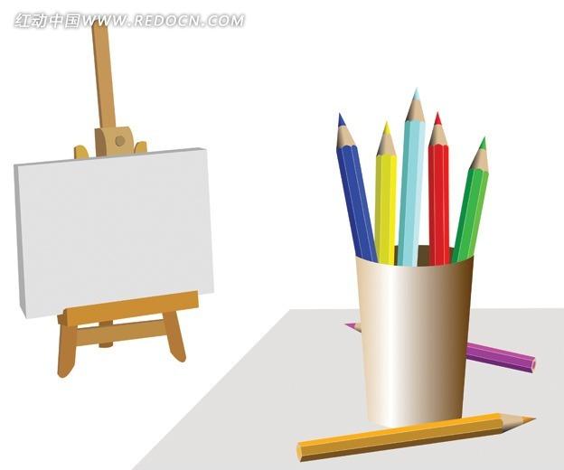 ppt画板铅笔素材