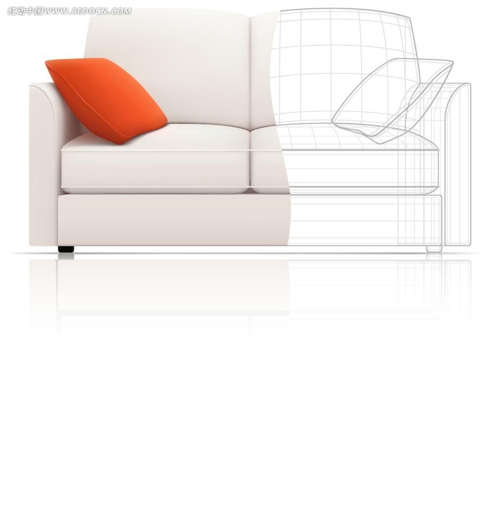 ppt效果图手绘图沙发