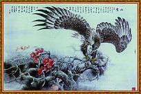 雄鹰展翅中堂画图片素材