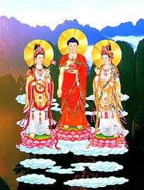 菩萨佛像中堂画