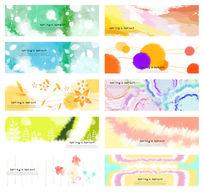 10张梦幻背景PSD分层素材花纹背景