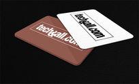 纯色卡片设计PSD素材