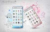 韩国平板手机广告设计PSD分层素材
