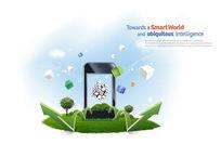 平板智能手机创意广告PSD分层海报