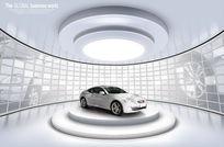 高级单门轿跑车广告PSD分层素材