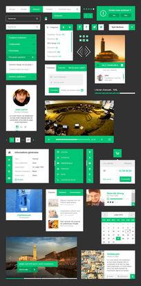 网站界面UI设计psd素材