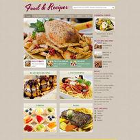 美食网站首页设计PSD素材