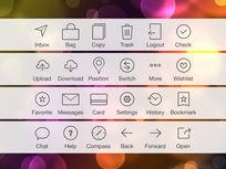 苹果ios7线描图标psd素材