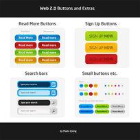 多彩网页按钮设计素材psd下载