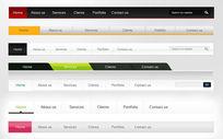 网页导航条设计大全psd素材