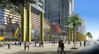 大型商业综合体沿街效果图