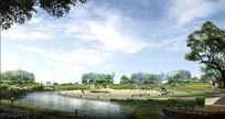 城市公园清水园景观效果图