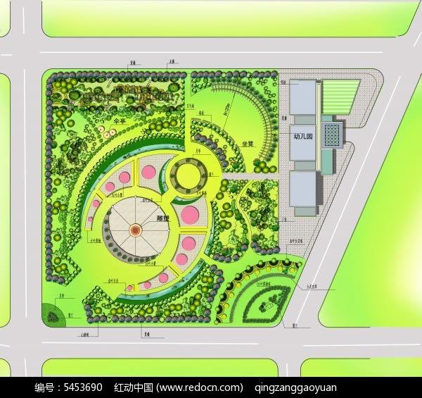 小区园林景观规划平面图psd素材