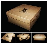 牛皮纸盒包装效果图psd素材