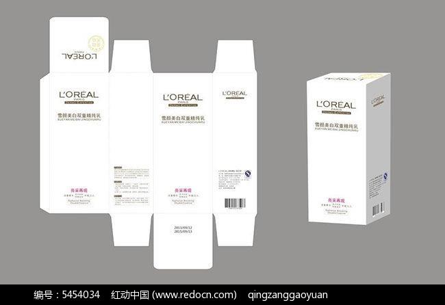 素材化妆品包装盒设计cdr月卡设计美白图片