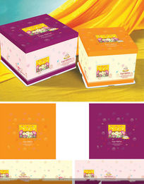 蛋糕包装盒设计PSD素材