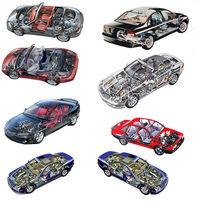 三维立体汽车内部结构图psd素材