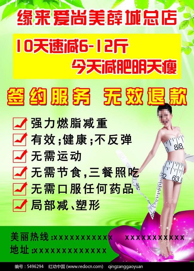 减肥瘦身宣传单PSD羽绒免费下载_X展架 易拉棉衣棉pu皮素材图片