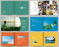 文化传媒品牌宣传画册PSD素材