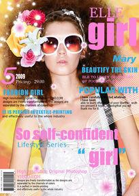 时尚女性杂志封面PSD素材