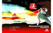 跆拳道画册封面PSD分层素材