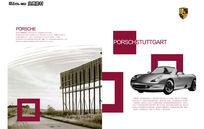 保时捷汽车宣传画册内页PSD分层素材