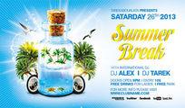 夏季漂流瓶创意海报设计PSD模板