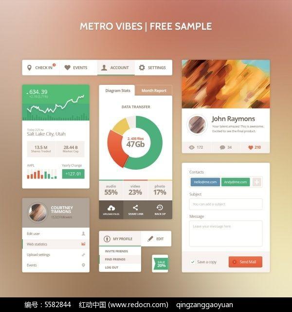 app和网页卡片式设计_