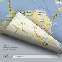 地图搜索应用PSD界面