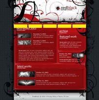 网页设计psd模板素材