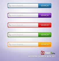 网页搜索psd按钮素材