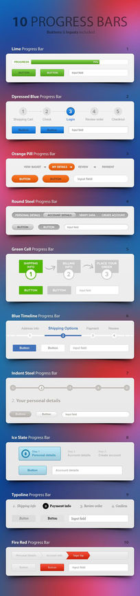 网站功能界面设计PSD素材