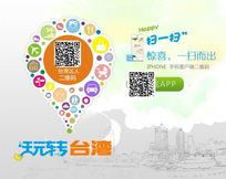 玩转台湾APP宣传海报