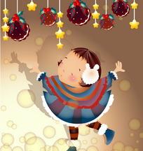 跳舞的圣诞小女孩