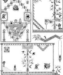 欧美古代花纹花边(004)