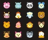 十二生肖卡通动物头像