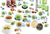 百家茶杯 各种茶具素材